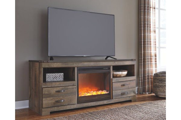 TRINELL ASHLEY TV STAND WITH FIREPLACE INSERT- $639.95