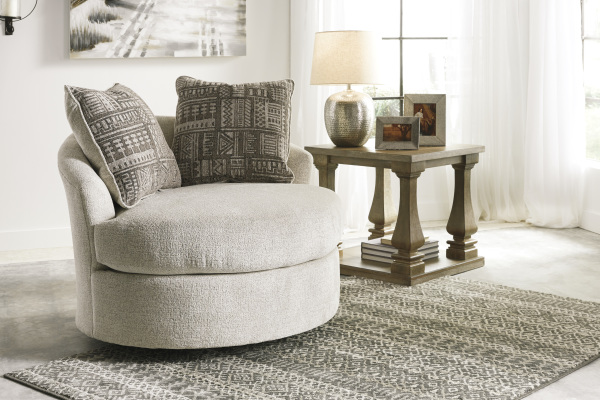 ASHLEY ROUND SWIVEL CHAIR-