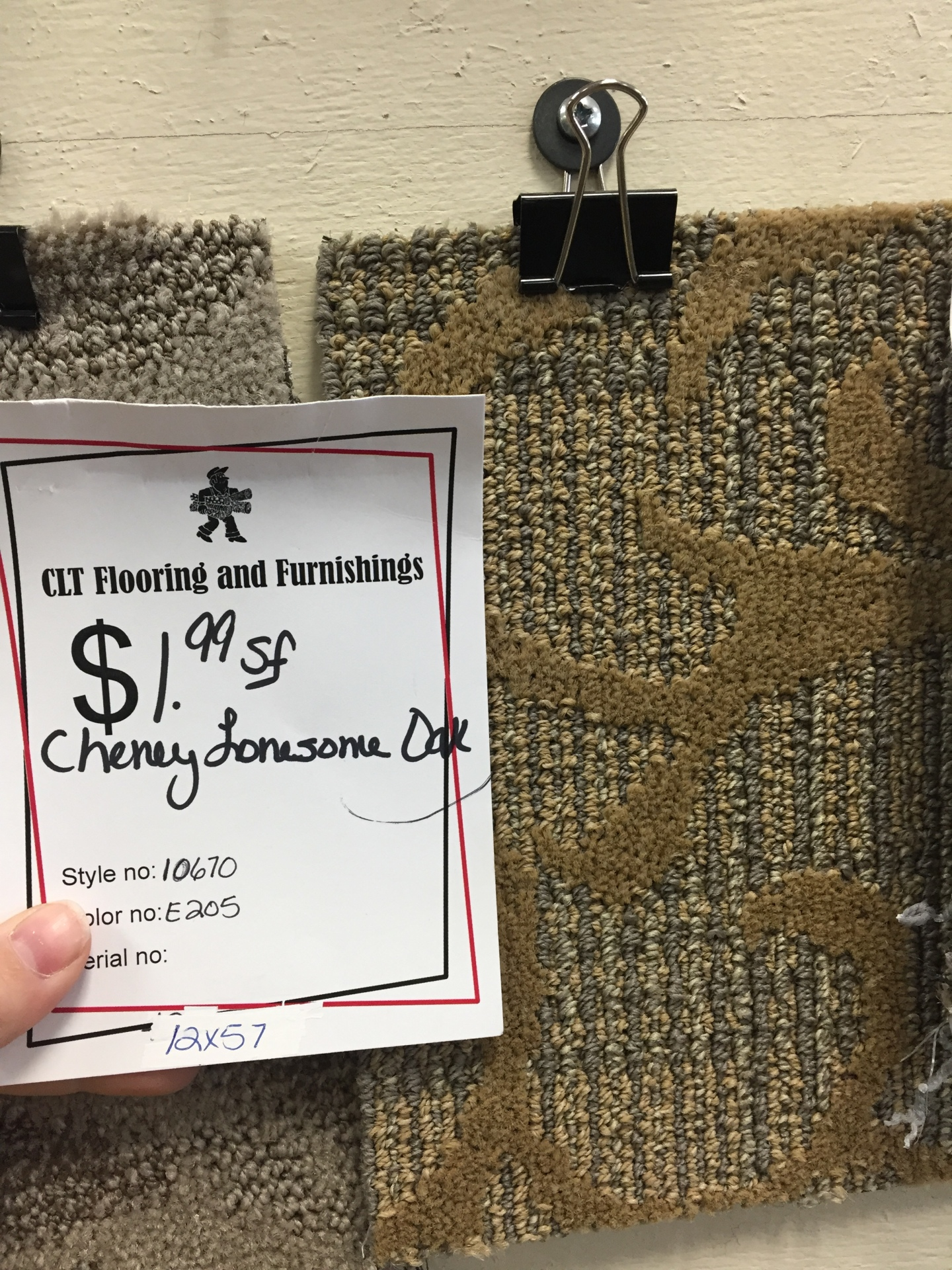 CHENEY COMMERCIAL CARPET $1.99 SF
