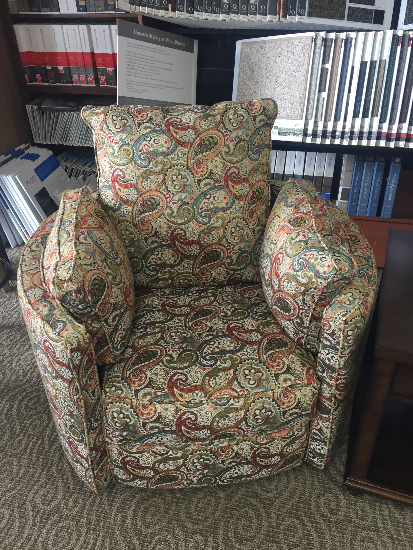 KLAUSSNER BARREL CHAIR