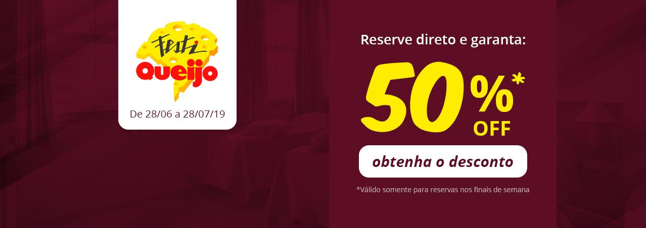 Festiqueijo 2019 - 50% OFF - Caxias do Sul - RS - Hotel em Caxias do Sul
