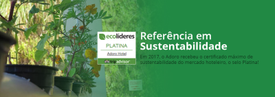 Selo Platina Ecolíderes - TripAdvisor - Adoro Hotel - Farroupilha - RS