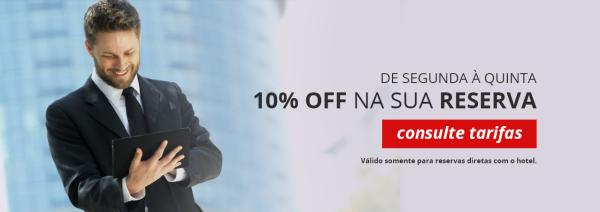 10% de desconto de segunda à quinta - Alvimar Hotel - Brasília/DF