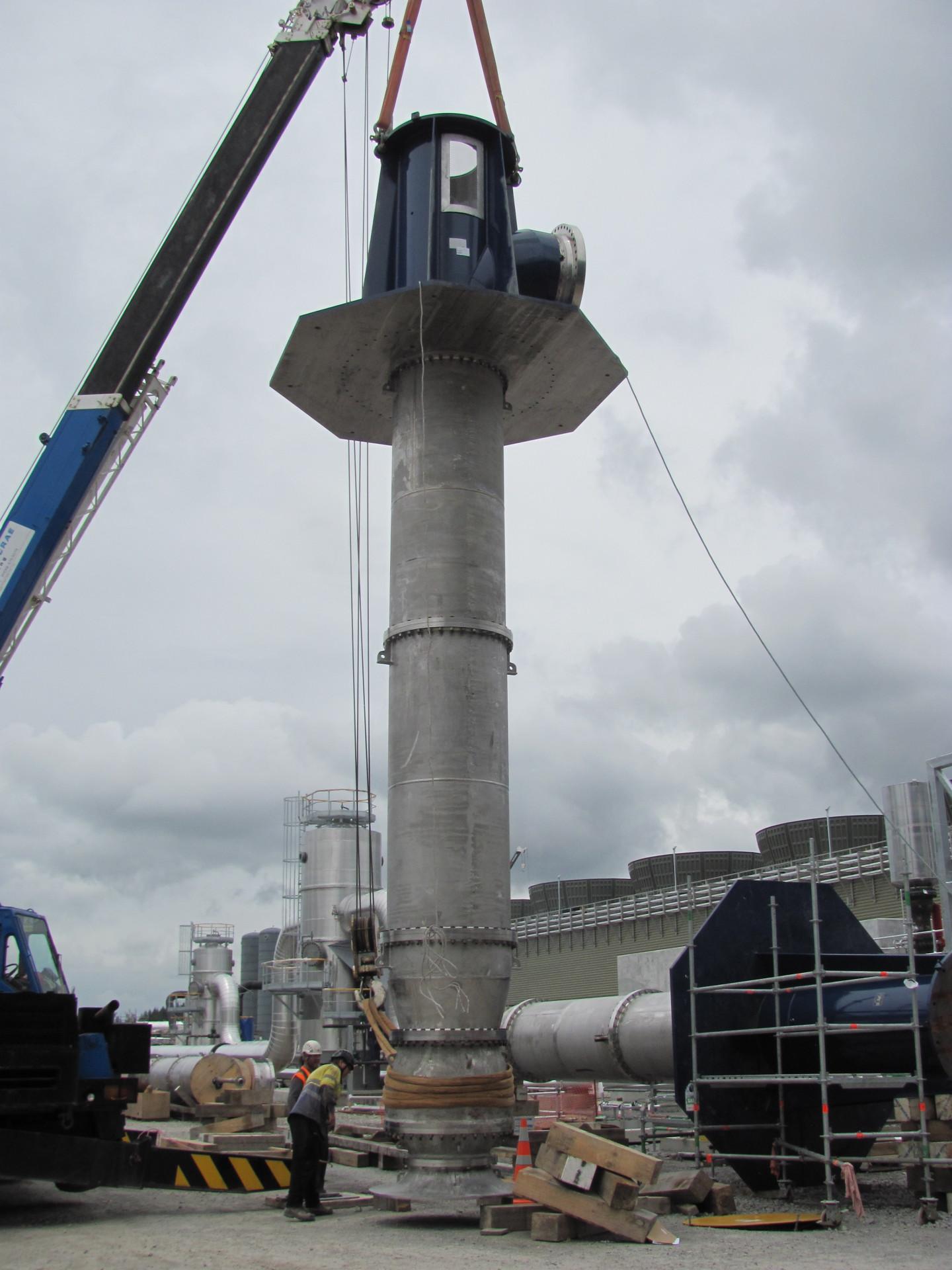 Installation of vertical pump
