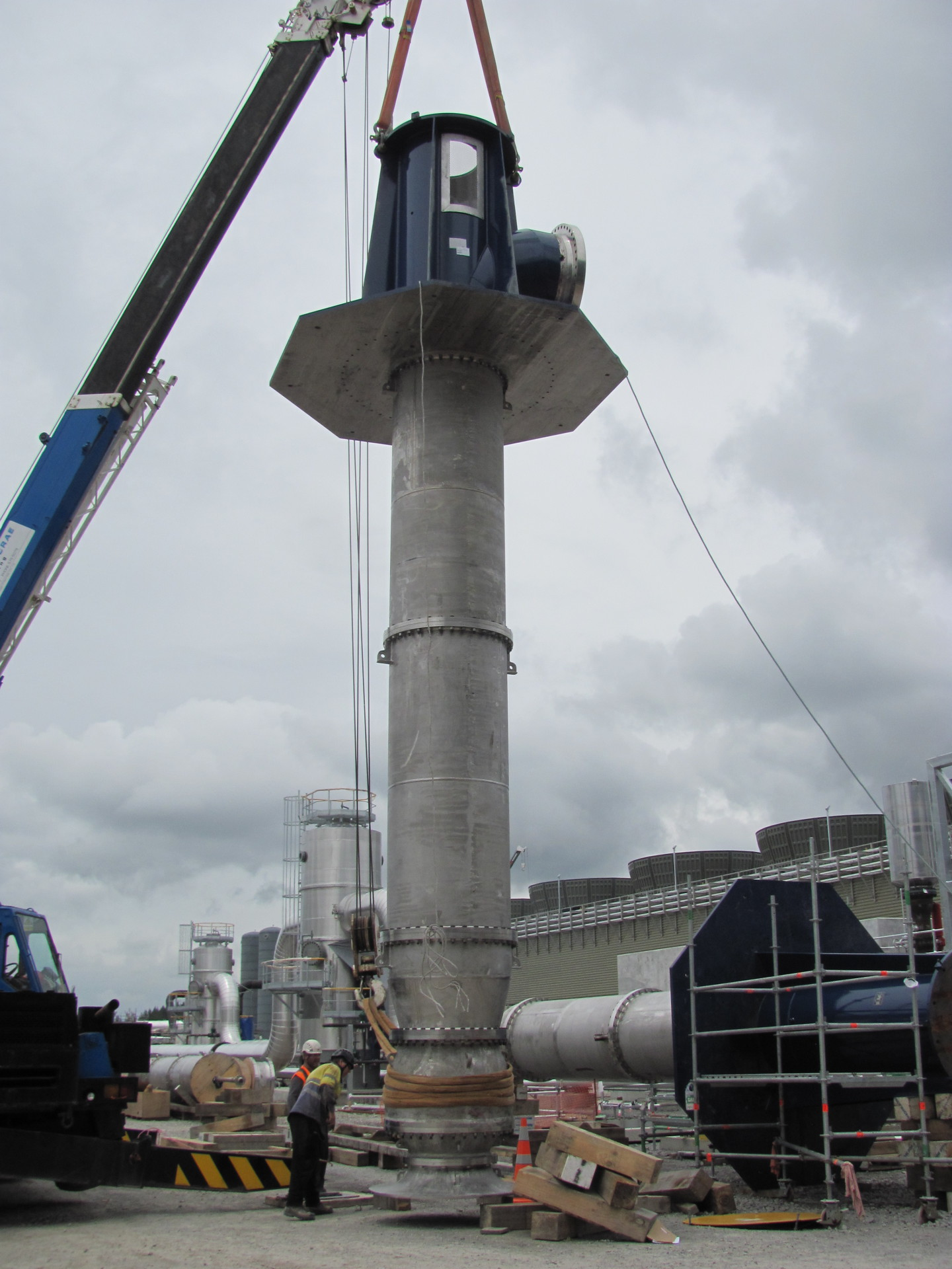 Installation of vertical pump