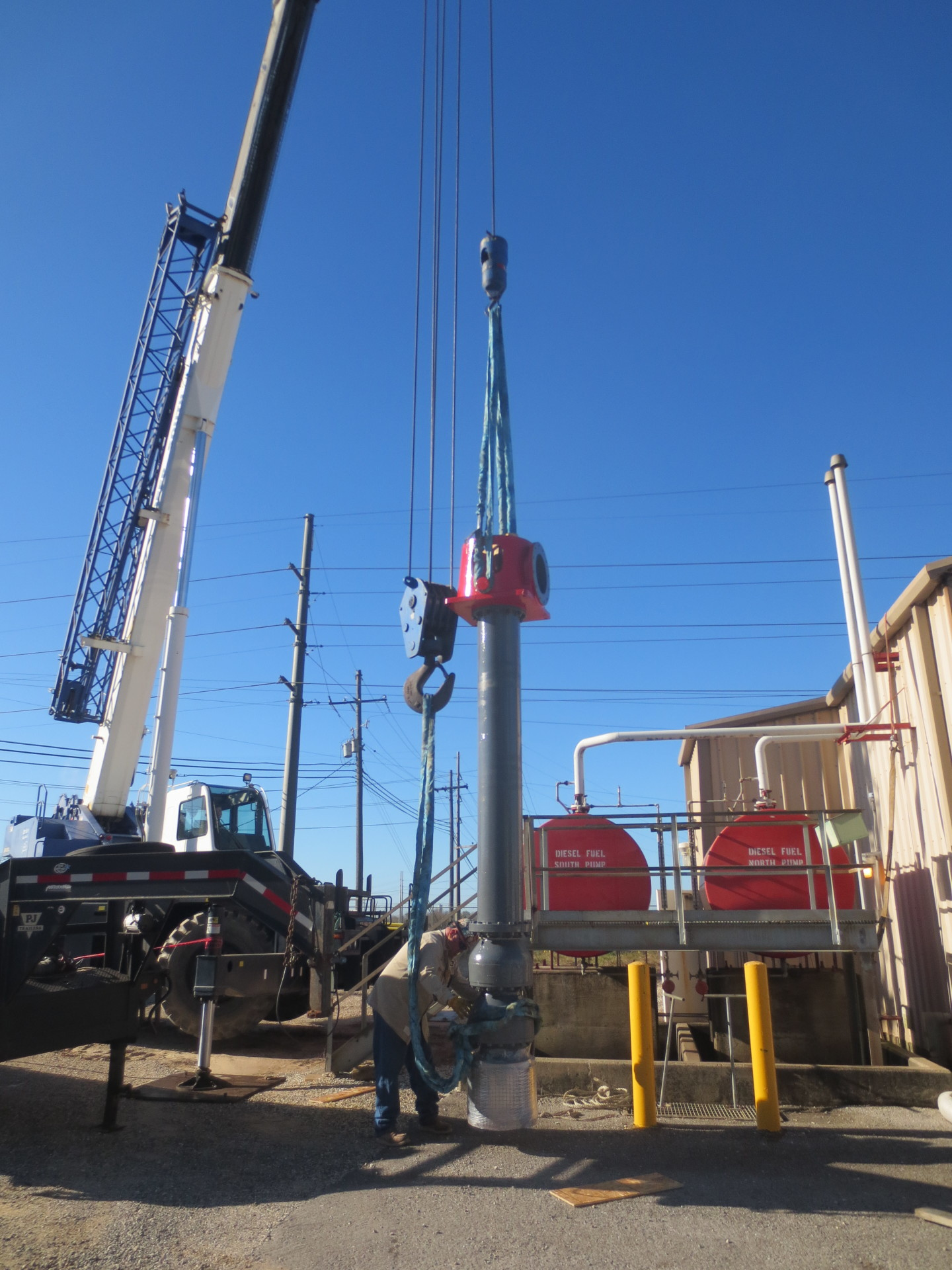 Installation of vertical Firewater Pump