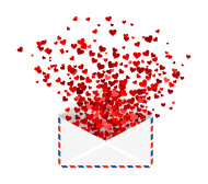 Send or receive a message of love  or remembrance