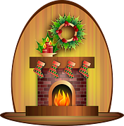 Fireplace and Wreath