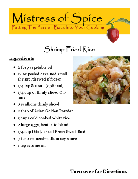 spicy, barbecue, grilling, spice, herb, cooking, home chef, rice, shrimp, asian, oriental, chinese, sides dish