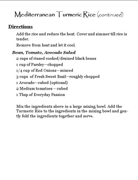 Mediterranean Turmeric Rice (continued)