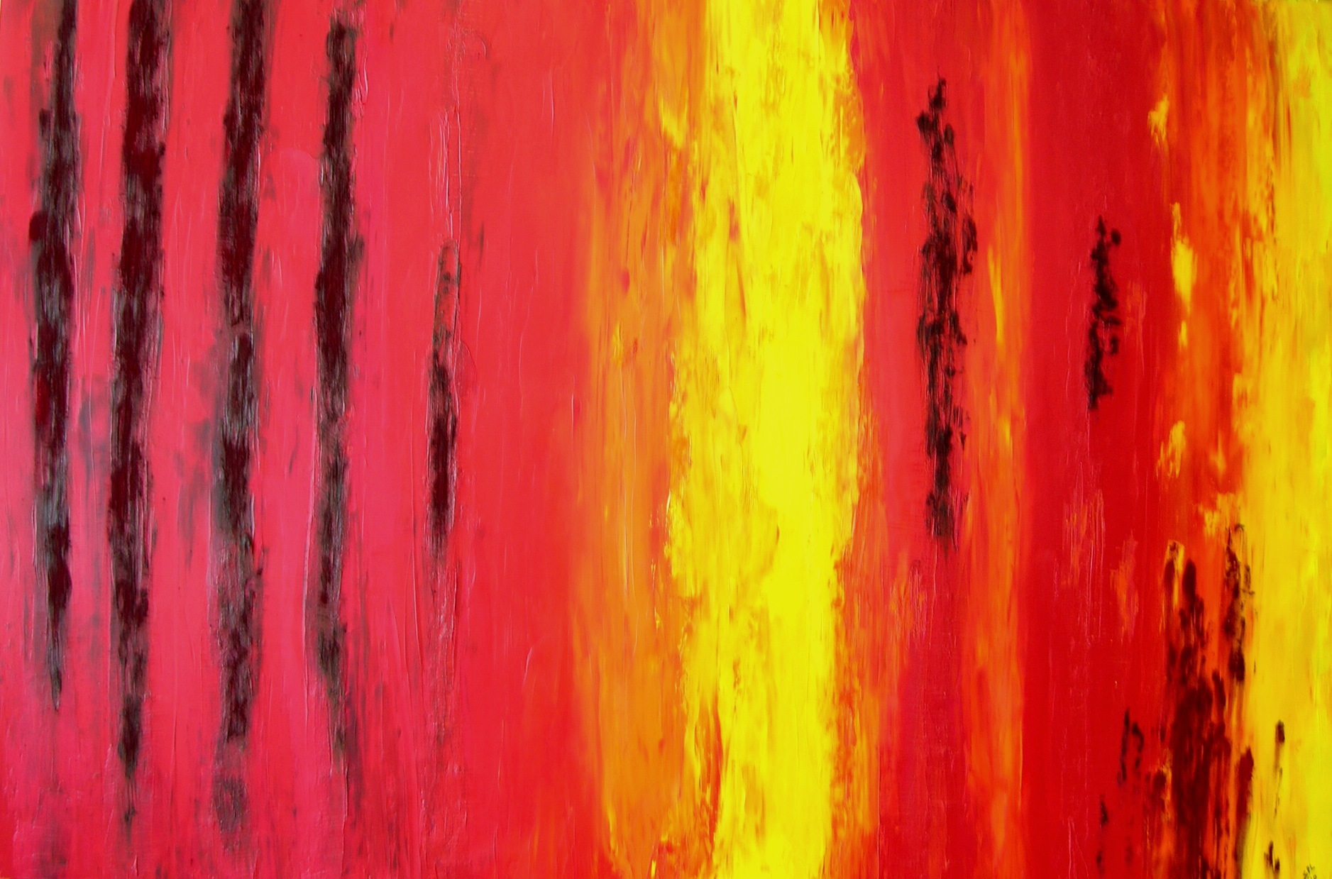 Wildfire Devastated abstract painting by Sabrina Puppin