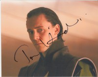 tom hiddleston signed avengers photo