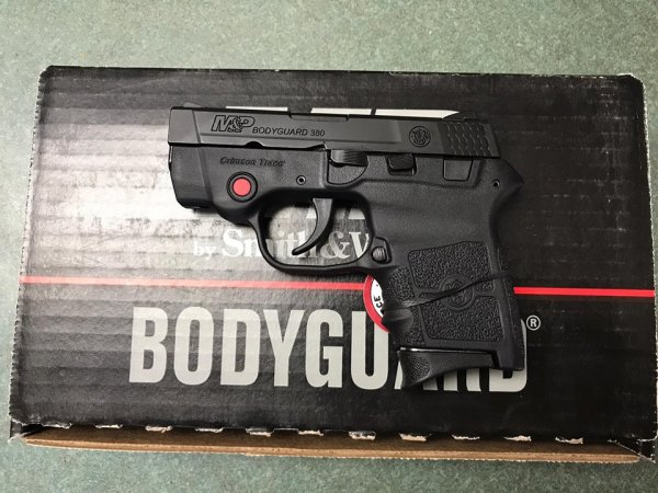 S&W Bodyguard .380 with laser $330 cash, tax included