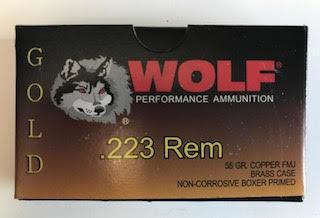 Wolf Brass .223 Remington Ammo 20 Rds $7