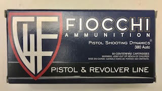 Fiocchi .380 ammo 50 Rounds $14