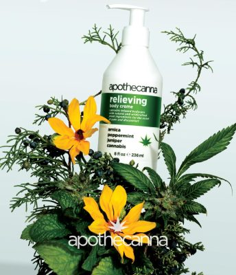 Apothecanna's pain relieving canabis oil infused topical cream