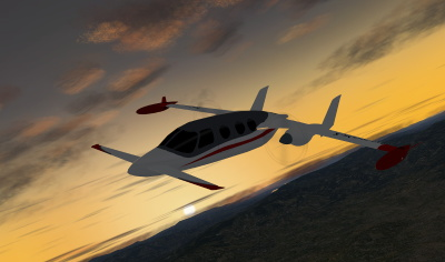 Custom light twin aircraft