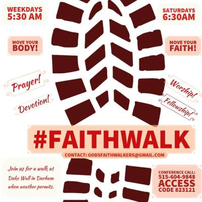 #FaithWalk