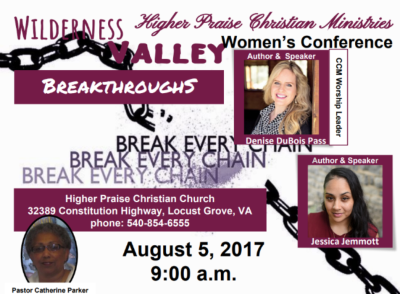 """Wilderness, Valley, Breakthrough"" Women's Conference"