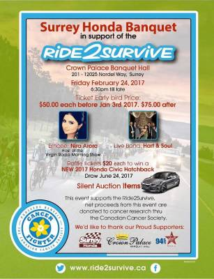 Surrey Honda Presents, Ride2Survive!