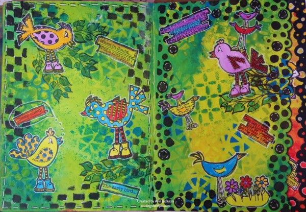 Art Journal Club - Dylusions Style