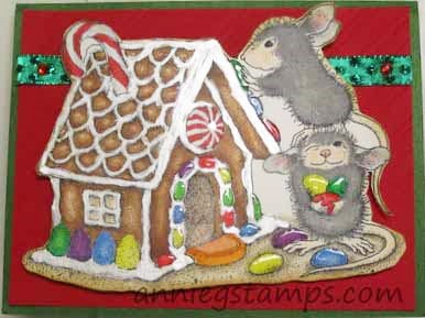 House Mouse Gingerbread House Card