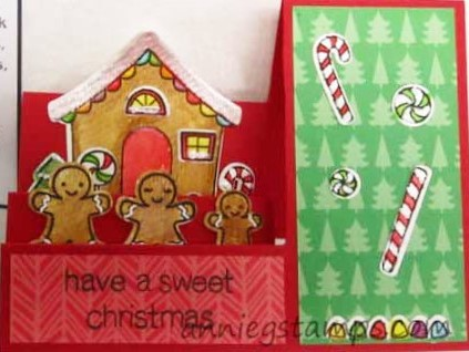 Gingerbread House Step Card