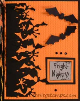 Fright Night Bats Card