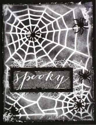 Spooky Web Card