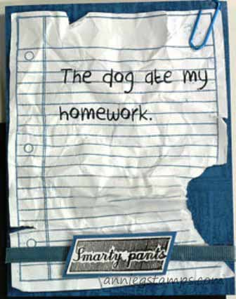 The Dog Ate My Homework Card
