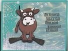 Snorkeling Cow Card