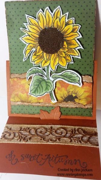 Sunflower Card - Open