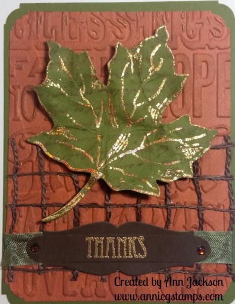 Maple Leaf Thanks Card