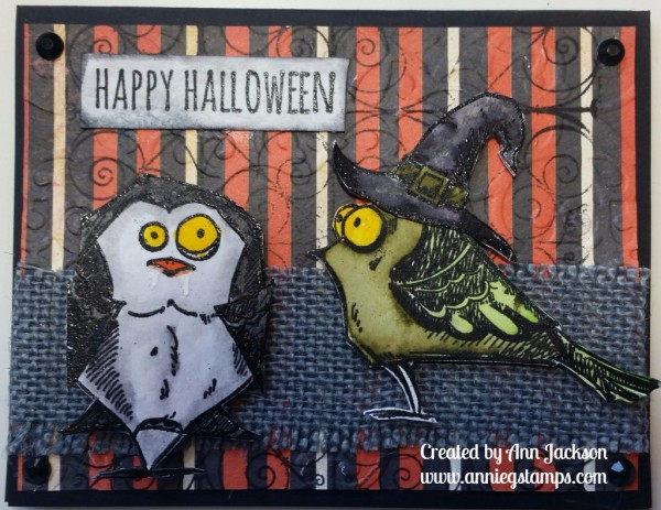Crazy Birds Halloween Card