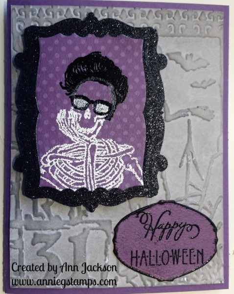 Elvis Skeleton Card