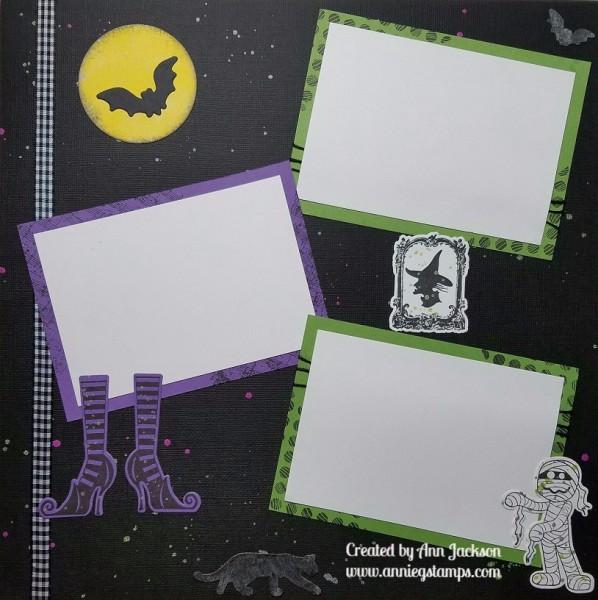 Halloween Scrapbook Page
