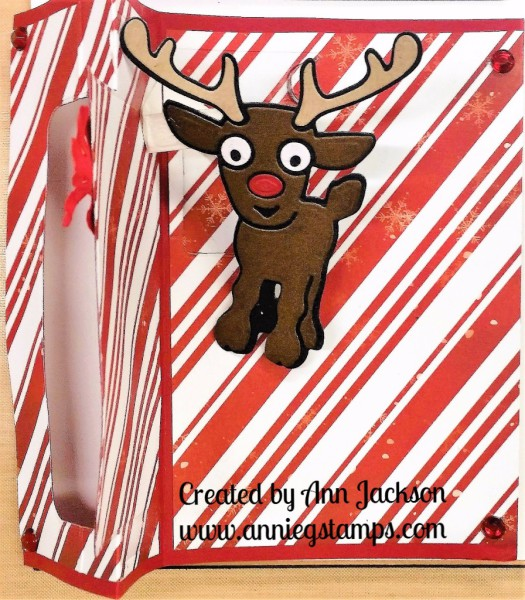 Holly Jolly Reindeer Flip Card