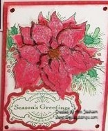 Stampendous Poinsettia Card