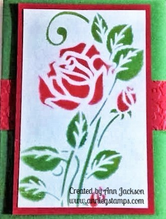 Stenciled Rose Card