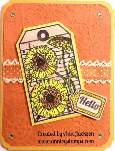 Blooming Tags Card