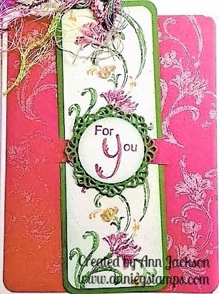 For You Floral Bookmark Card