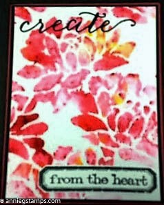 Colorburst Stenciled Card