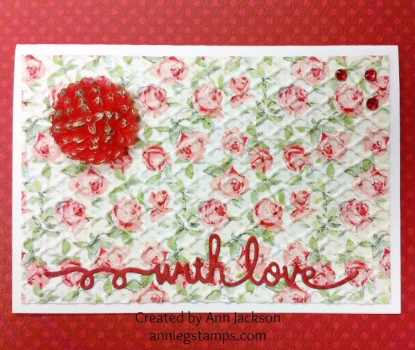 With Love Floral Notecard