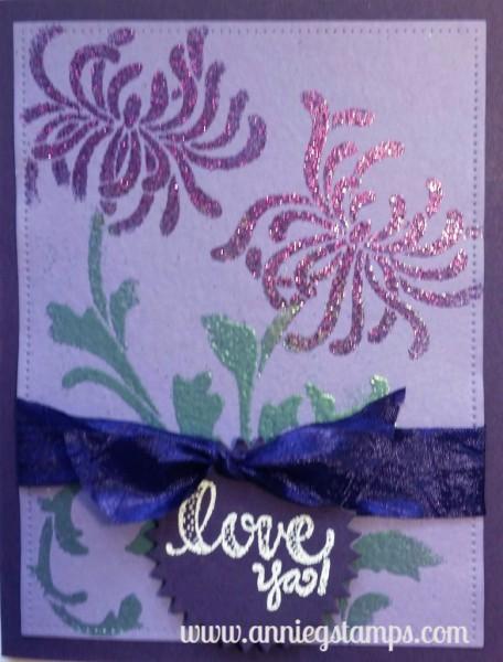 Spider Mum Card