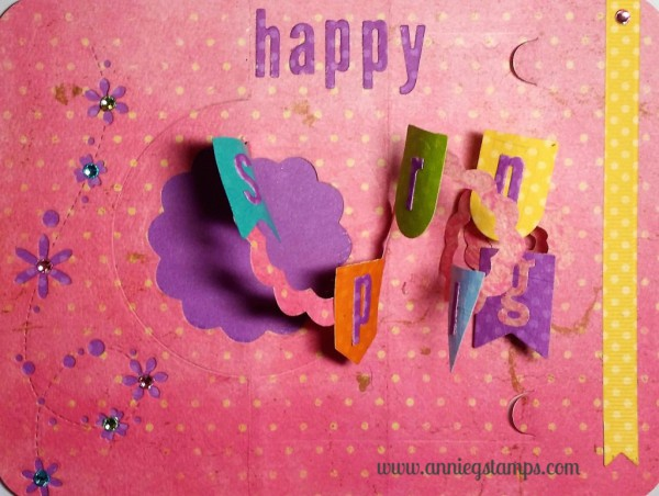 Happy Spring Card-open
