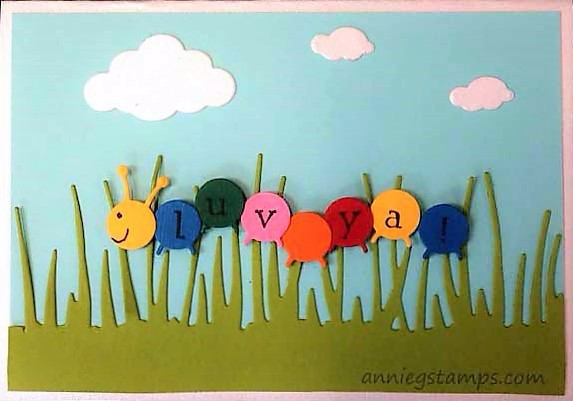 Luv Ya Caterpillar Card
