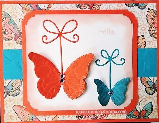 Butterflies & Bows Card