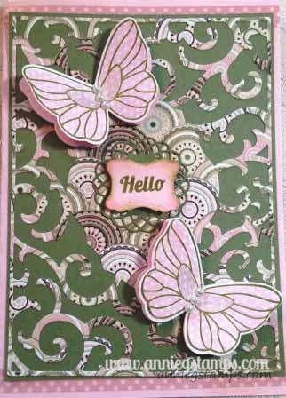 Ornate Butterfly Card
