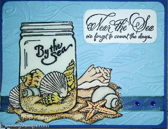 By the Sea Jar Card