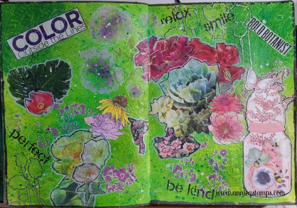 Art Journal Club - Floral Collage Pages
